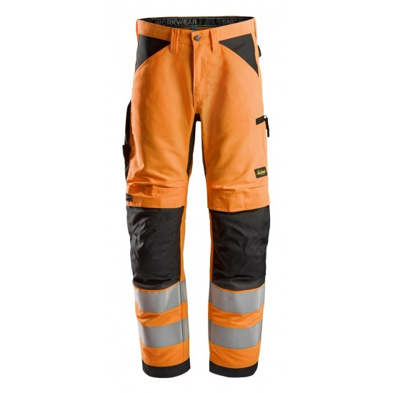 Snickers 6332 LiteWork Class 2 Hi Vis Trousers