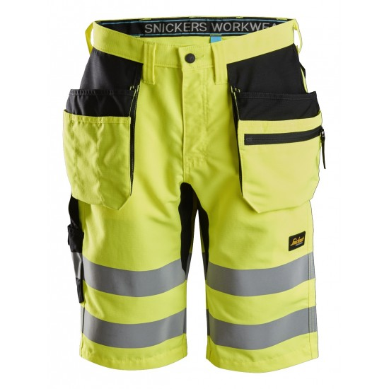 Snickers 6131 LiteWork Class 1 Hi Vis Holster Pocket Shorts