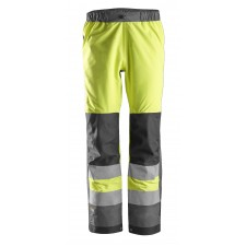 Snickers 6530 AllroundWork Class 2 Hi Vis WP Shell Trousers