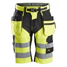 Snickers 6933 FlexiWork Class 1 Hi Vis Holster Pocket Shorts
