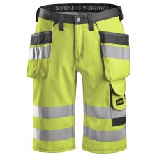 Snickers 3033 High-Vis Shorts mit Holstertaschen, Klasse 1
